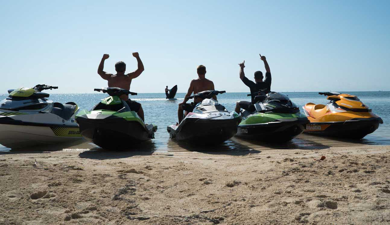 Discover the beautiful beaches and bays of Malinska on the jet ski scooter